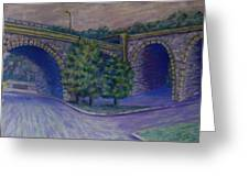 Lincoln Ave Bridge Pittsburgh Greeting Card