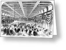 Lincoln Ball, 1865 Greeting Card