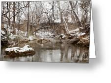 Lincoln Bridge In Winter Greeting Card