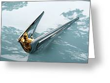 Lincoln Capri Hood Ornament Greeting Card