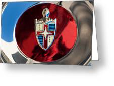 Lincoln Capri Wheel Emblem Greeting Card by Jill Reger