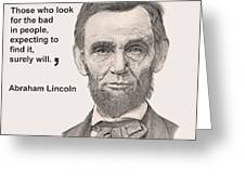 Lincoln Card Greeting Card