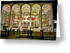 Lincoln Center At Night Greeting Card