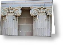 Lincoln County Courthouse Columns Greeting Card