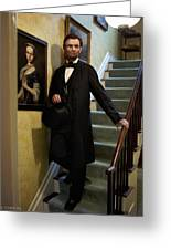 Lincoln Descending Stairs 2 Greeting Card by Ray Downing