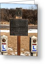 Lincoln Highway Marker Greeting Card