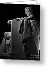 Lincoln In Black And White Greeting Card