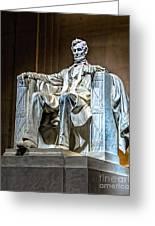 Lincoln In Memorial Greeting Card