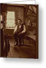Lincoln In The Attic Greeting Card