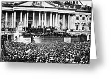 Lincoln Inauguration, 1861 Greeting Card