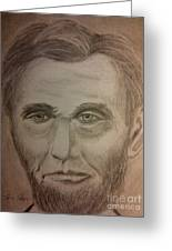 Lincoln Greeting Card by Irving Starr