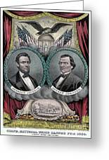 Lincoln Johnson Campaign Poster Greeting Card by Marvin Blaine