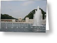 Lincoln Memorial And Fountain - Washington Dc Greeting Card
