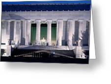 Lincoln Memorial At Dusk, Washington Greeting Card