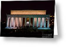 Lincoln Memorial At Night Greeting Card
