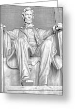 Lincoln Memorial Black/white Hdr Greeting Card