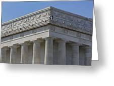 Lincoln Memorial Columns  Greeting Card by Susan Candelario