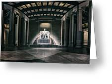 Lincoln Memorial Greeting Card by Eduard Moldoveanu