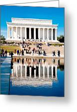 Lincoln Memorial Greeting Card by Greg Fortier