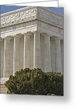 Lincoln Memorial Pillars Greeting Card