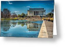 Lincoln Memorial Reflection Greeting Card