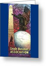 Lincoln Monuments Street Banners Civil War Flag Bearer Greeting Card