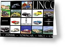 Poster Of Lincoln Cars Greeting Card