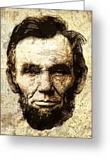 Lincoln Sepia Grunge Greeting Card