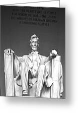 Lincoln Sitting Greeting Card