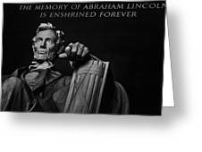 Lincoln The Legacy Of A President Greeting Card