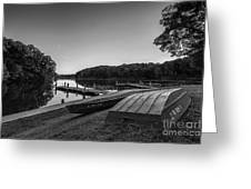 Lincoln Trail State Park Bw Greeting Card