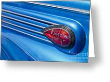 Lincoln Zephyr Greeting Card