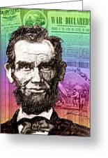 Lincoln's Billboard Of History Greeting Card