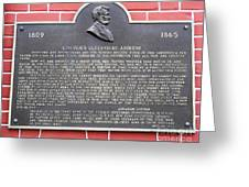 Lincoln's Gettysburg Address Plaque Greeting Card
