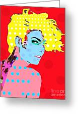Linda Evangelista Greeting Card by Ricky Sencion