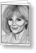 Linda Evans In 1984 Greeting Card