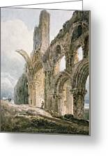 Lindisfarne Abbey Greeting Card