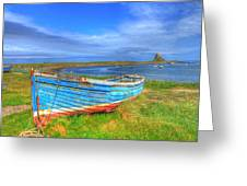 Lindisfarne By The Sea Greeting Card