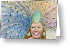 Lindsay  Carnival Queen Greeting Card