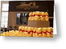 Lindt Chocolate Boutique In Vienna - Austria Greeting Card