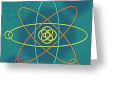 Line Atomic Structure Greeting Card
