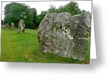 Line Of Avebury Stones Greeting Card