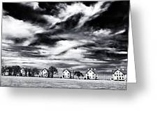 Lined Up In Sandy Hook Greeting Card by John Rizzuto