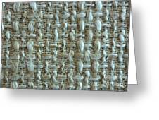 Linen Fabric Texture Greeting Card