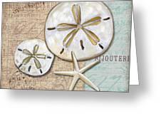Linen Shell II Greeting Card