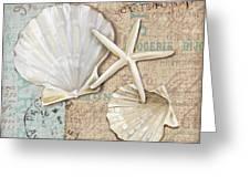 Linen Shells I Greeting Card