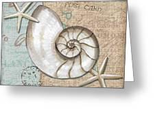 Linen Shells IIi Greeting Card