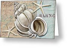 Linen Shells Iv Greeting Card