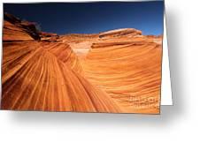 Lines In Sandstone Greeting Card
