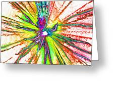 Lines Of Color Greeting Card